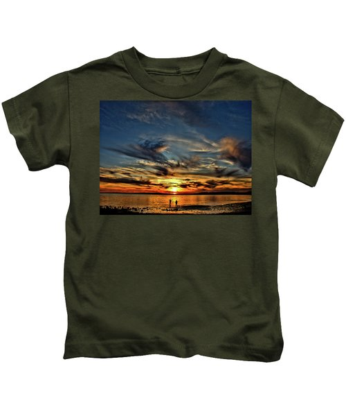 Sunset At The Waters Edge Kids T-Shirt