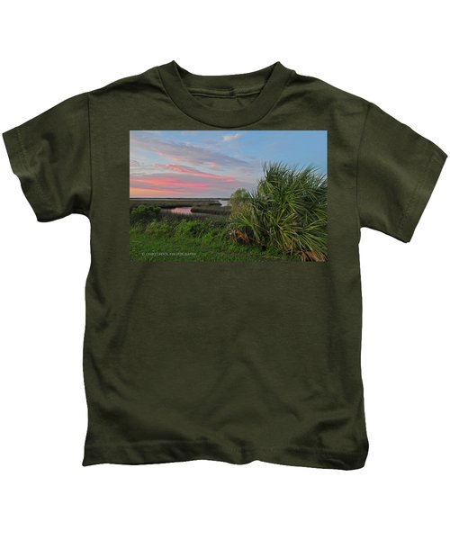 D32a-89 Sunset In Crystal River, Florida Photo Kids T-Shirt