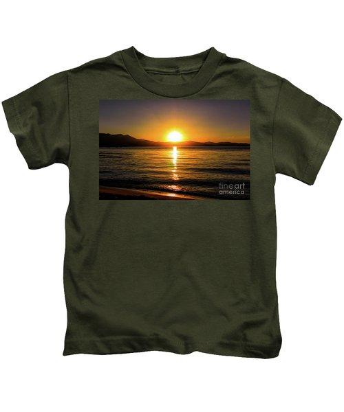 Sunset Lake 1 Kids T-Shirt