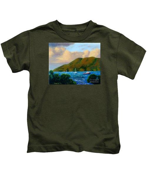 Sunset On Cruz Bay Kids T-Shirt