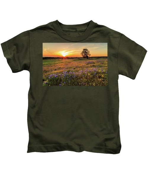 Sunset On North Table Mountain Kids T-Shirt
