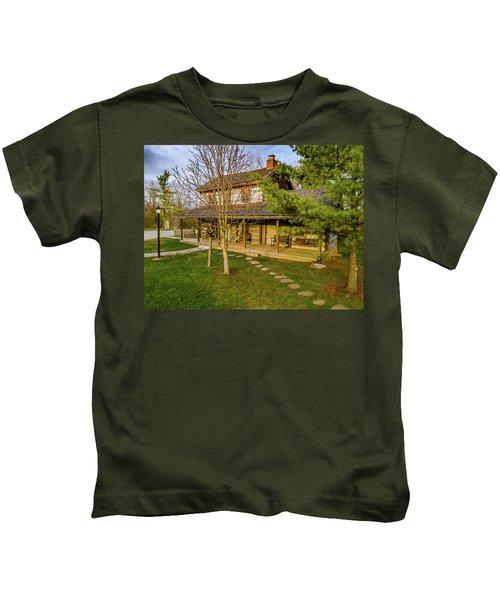 Sunset On The Cabin Kids T-Shirt