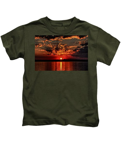 Sunset On The Zambezi Kids T-Shirt
