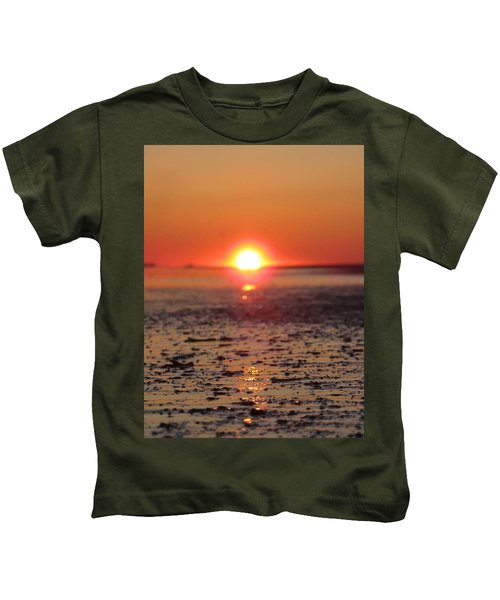Sunset Over The Sea Kids T-Shirt
