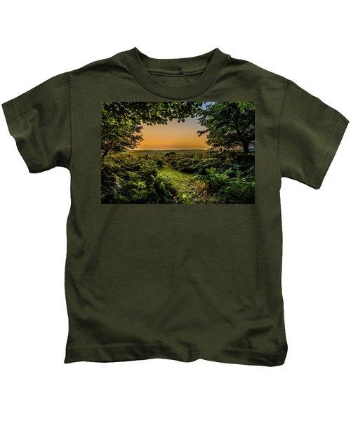Sunset Through Trees Kids T-Shirt