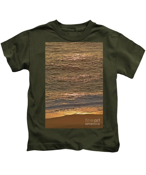 Sunset Waves Over Carmel Beach Kids T-Shirt