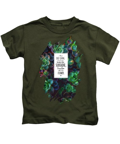 Sunshine, Freedom, Flower Kids T-Shirt by Atelier Seneca