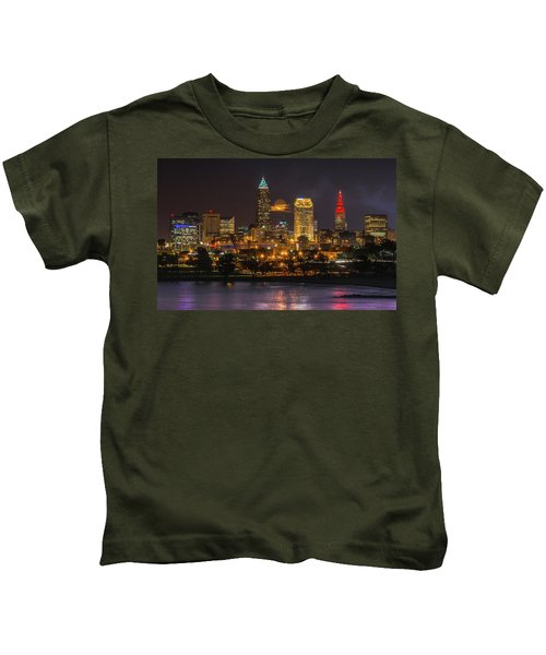 Super Moon 2016 Over Cleveland Kids T-Shirt