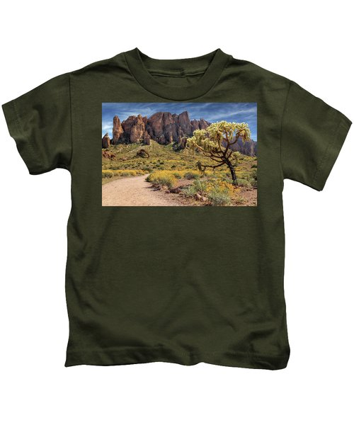 Superstition Mountain Cholla Kids T-Shirt
