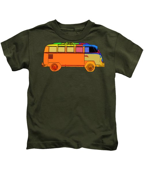 Kids T-Shirt featuring the photograph Surfer Van Transparent by Edward Fielding