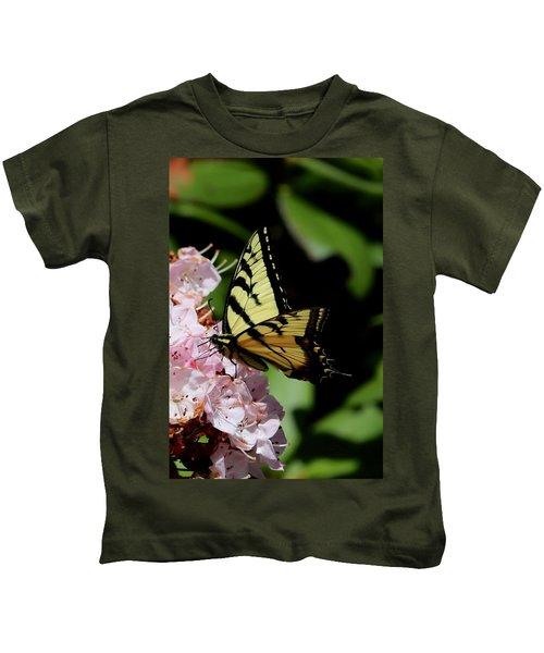 Swallow Tail On Mountain Laurel Kids T-Shirt