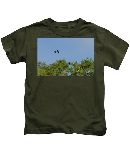 Swallow-tailed Kite Flyover Kids T-Shirt