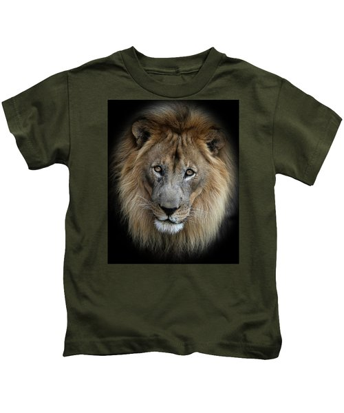 Sweet Male Lion Portrait Kids T-Shirt