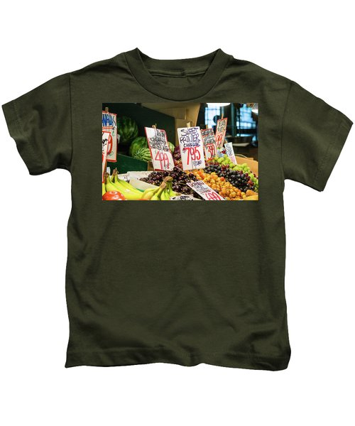 Sweet Rainier Cherries Kids T-Shirt