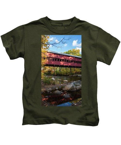 Swift River Covered Bridge Kids T-Shirt