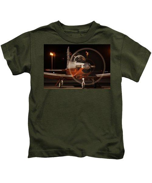 T-6 Night Flight Kids T-Shirt
