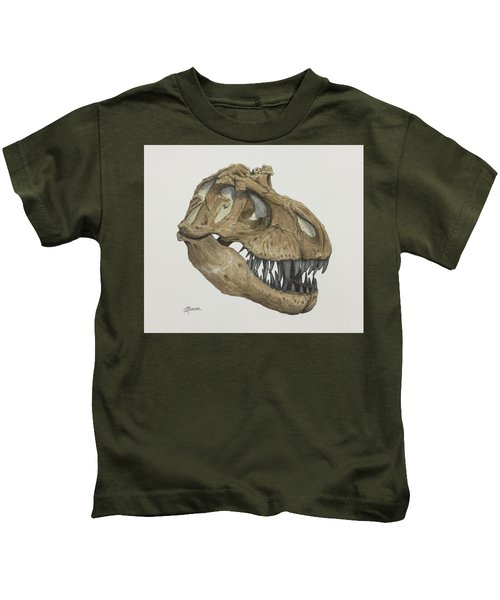T. Rex Skull 2 Kids T-Shirt