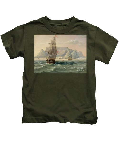 Table Mountain, Cape Town, From The Sea Kids T-Shirt