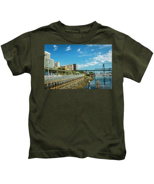 Tacoma And 11th Street Bridge Kids T-Shirt