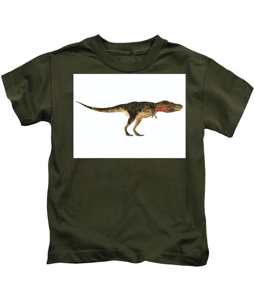 Tarbosaurus Side Profile Kids T-Shirt