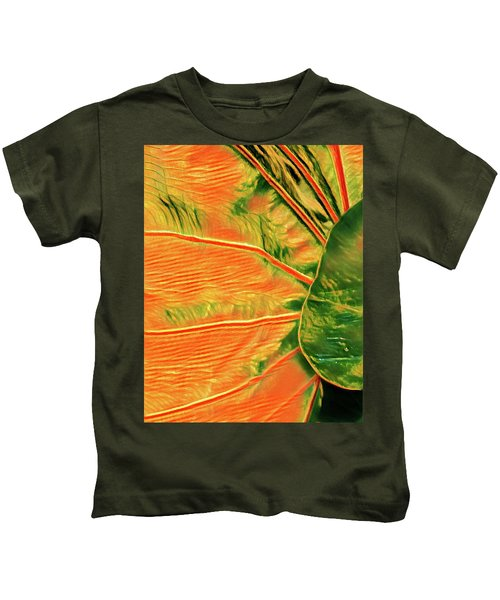 Taro Leaf In Orange - The Other Side Kids T-Shirt