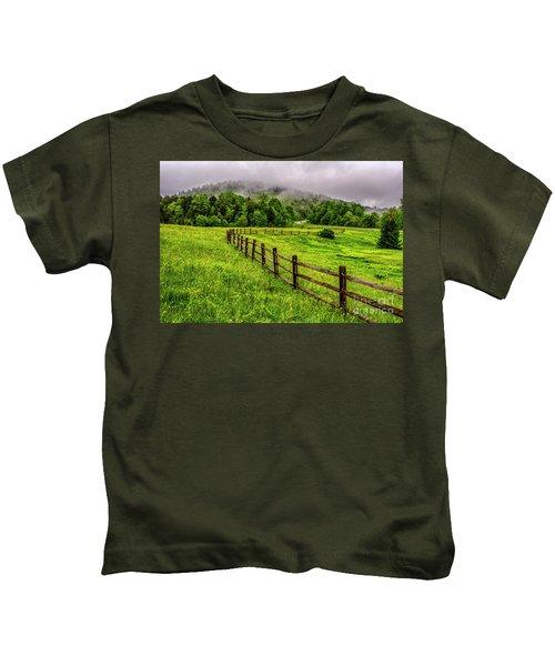 Tea Creek Meadow And Buttercups Kids T-Shirt