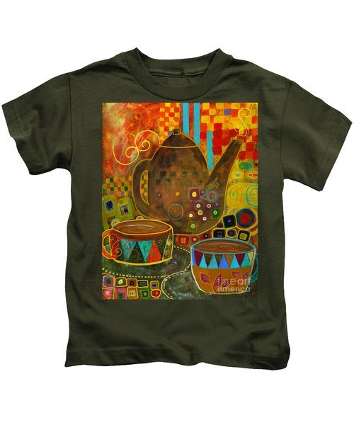 Tea Party With Klimt Kids T-Shirt