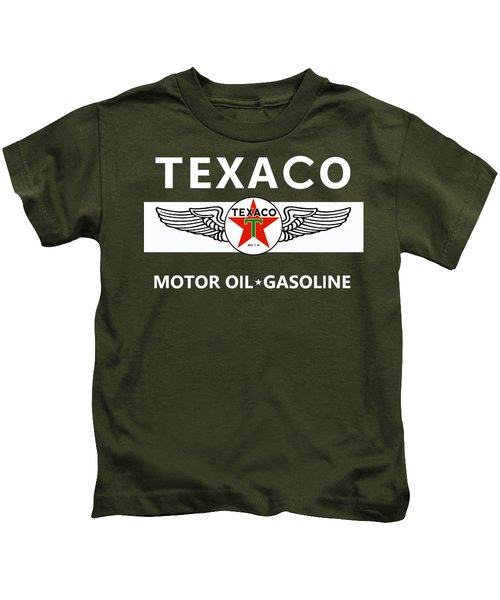 Texaco Motor Oil Kids T-Shirt