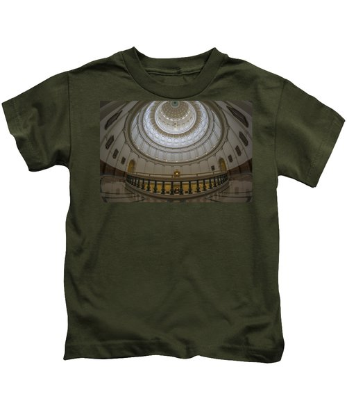 Texas Capitol Dome Wide Angle Kids T-Shirt