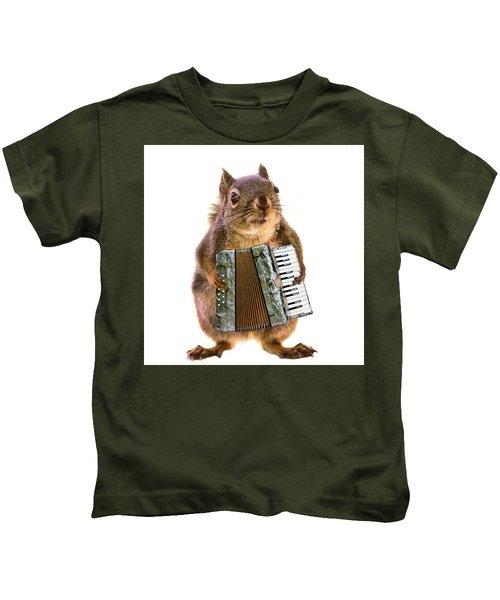The Accordion Player Kids T-Shirt