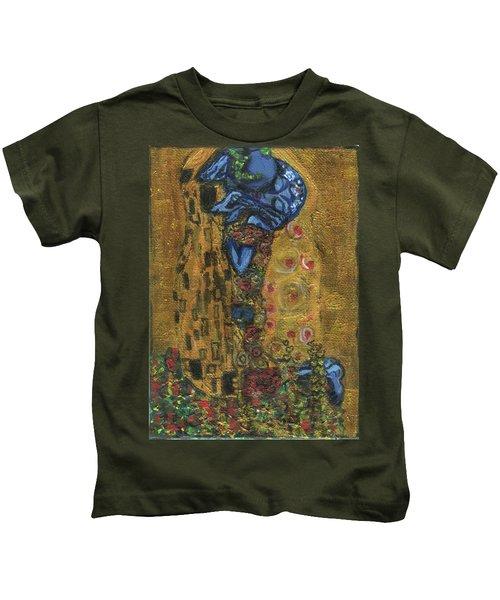 The Alien Kiss By Blastoff Klimt Kids T-Shirt