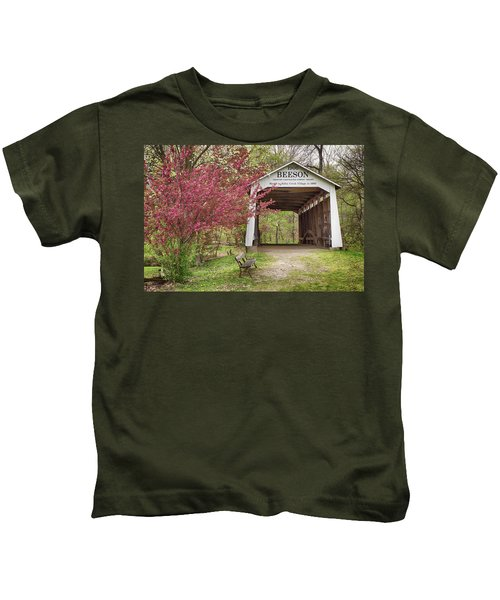 The Beeson Covered Bridge Kids T-Shirt