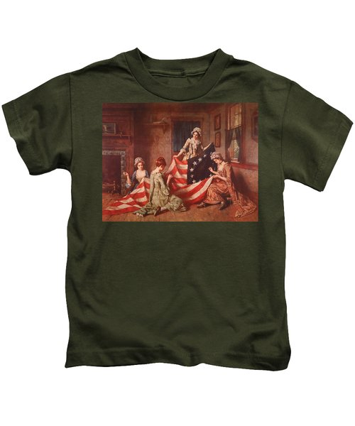 The Birth Of The Flag Kids T-Shirt