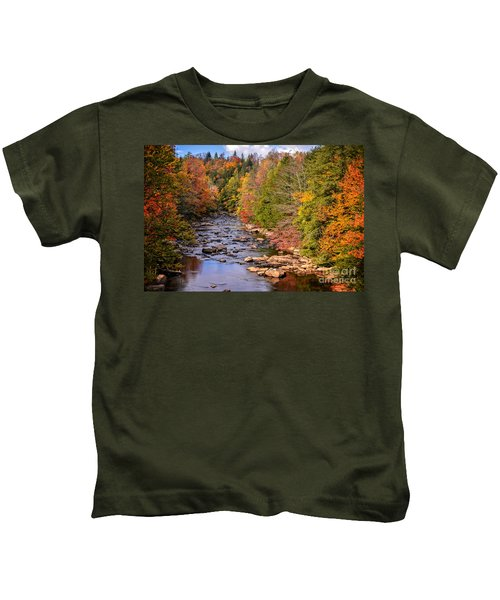 The Blackwater River In Autumn Color Kids T-Shirt