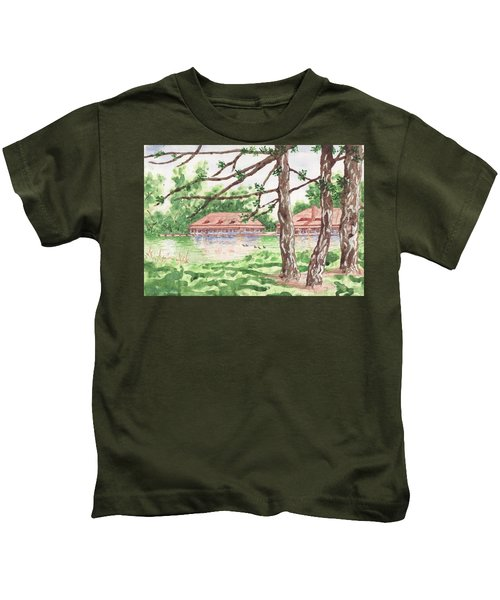 The Boathouse At Forest Park Kids T-Shirt