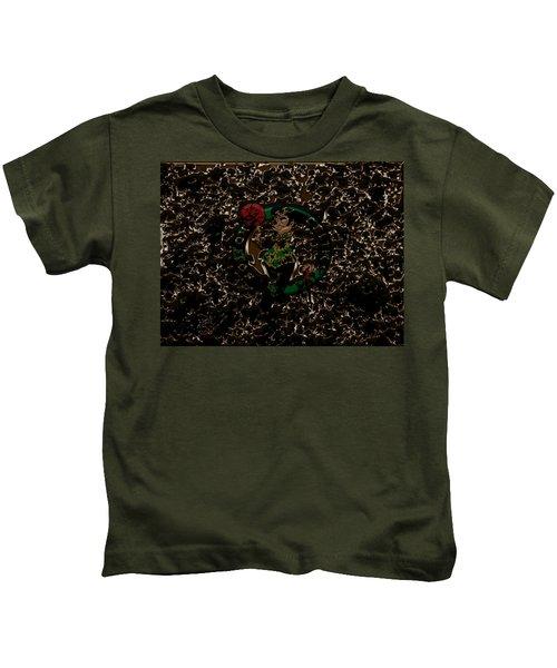 The Boston Celtics 1b Kids T-Shirt by Brian Reaves