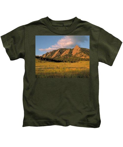 The Boulder Flatirons Kids T-Shirt
