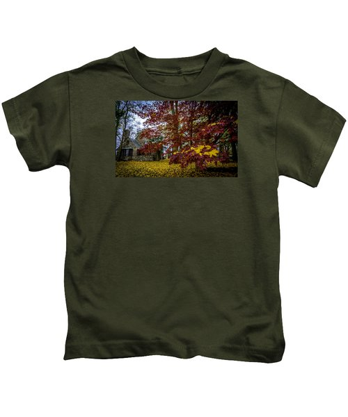 The Cabin In Autumn Kids T-Shirt