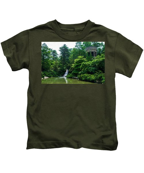 The Castle Tower At Longwood Gardens Kids T-Shirt