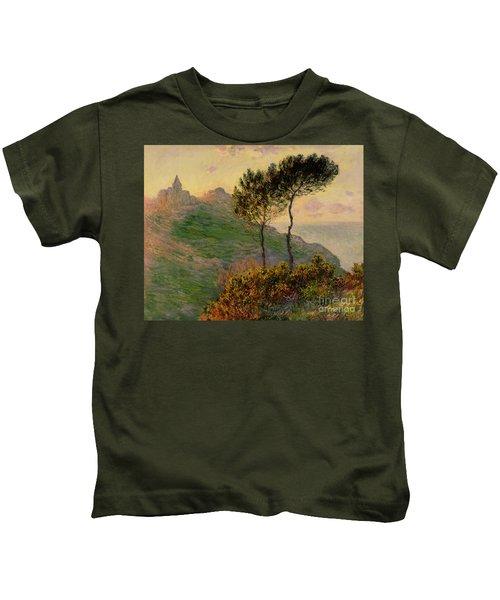 The Church At Varengeville Against The Sunlight Kids T-Shirt