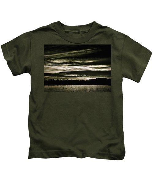The Coast At Night Kids T-Shirt
