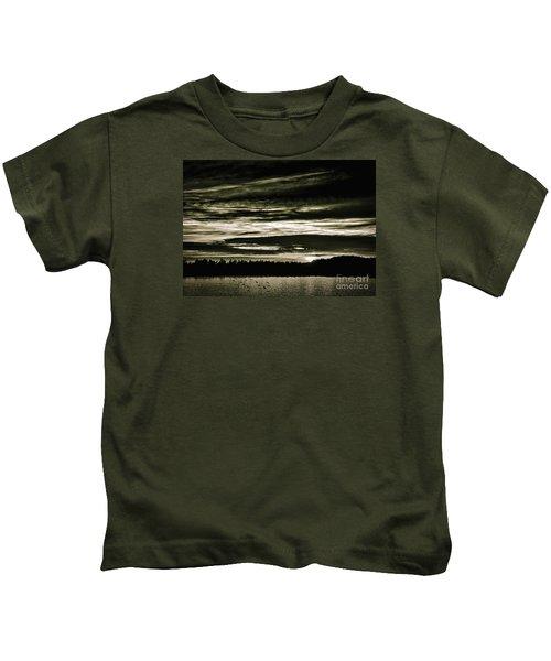 The Coast At Night Kids T-Shirt