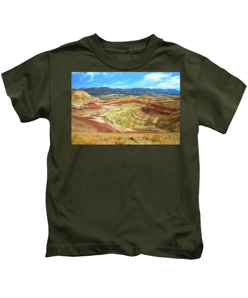 The Colorful Painted Hills In Eastern Oregon Kids T-Shirt