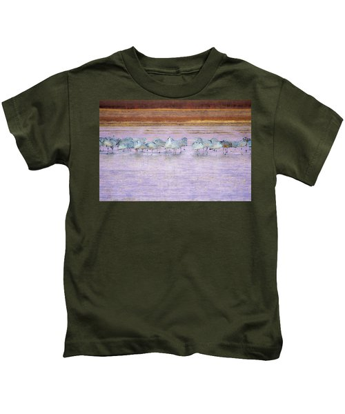 The Cranes Of Bosque Kids T-Shirt