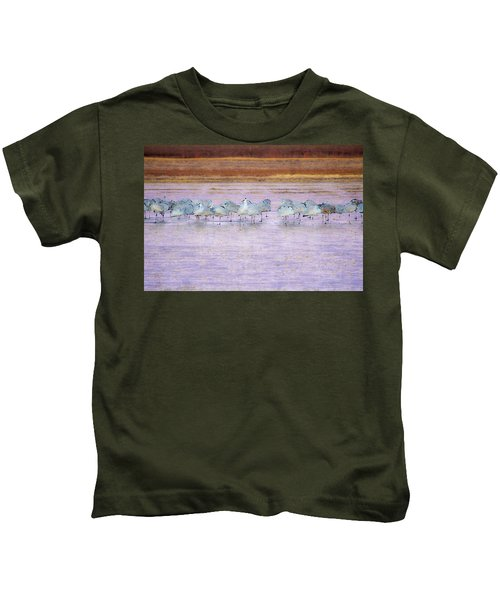 The Cranes Of Bosque Kids T-Shirt
