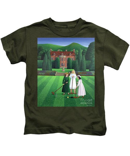 The Croquet Match Kids T-Shirt