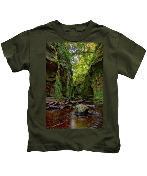 The Devil Pulpit At Finnich Glen Kids T-Shirt