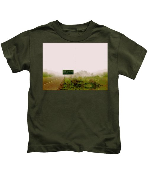 The End Of The Earth Kids T-Shirt