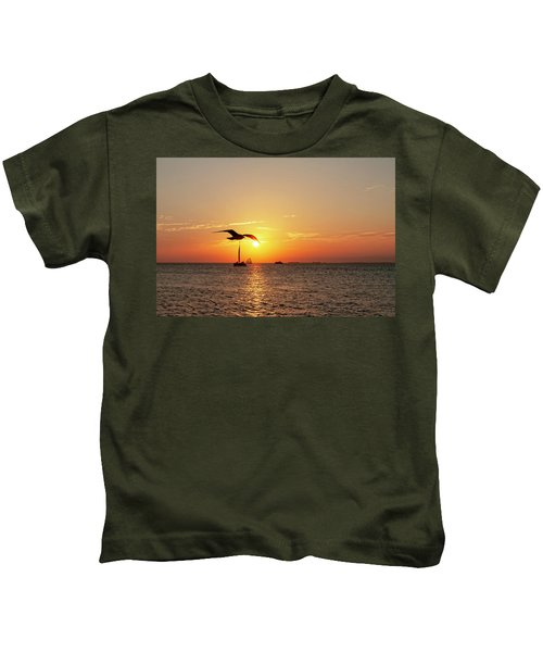 The Famous Key West Sunset  Kids T-Shirt