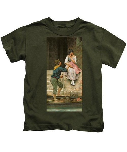 The Fishermans Wooing From The Pears Annual Christmas Kids T-Shirt